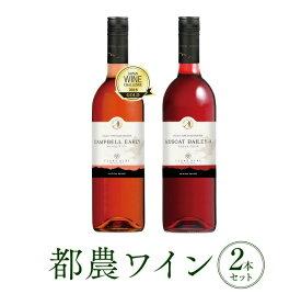 【ふるさと納税】《お歳暮》ロゼ&赤2本セット(都農ワイン)