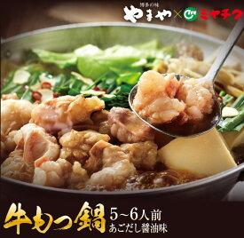 【ふるさと納税】博多の味「やまや」×「ミヤチク」牛もつ鍋セット(あごだし醤油味)5〜6人前
