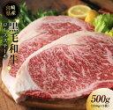 【ふるさと納税】黒毛和牛ロースステーキ500g(250g×2枚)