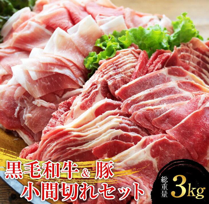 【ふるさと納税】〈黒毛和牛&豚〉小間切れセット(総重量3kg)