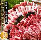 【ふるさと納税】〈宮崎牛&豚〉切落しセット(焼肉)合計1.5kg
