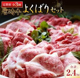 【ふるさと納税】《3か月お楽しみ定期便》宮崎牛よくばりセット(合計2.4kg)都農町加工品