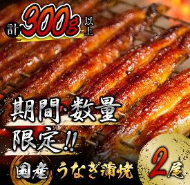 【ふるさと納税】《毎月300セット限定》うなぎ蒲焼2尾(計300g以上)国産鰻(ウナギ・さんしょう・たれセット)