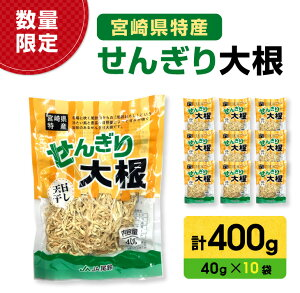 【ふるさと納税】《数量限定》宮崎県特産『せんぎり大根』40g×10袋(計400g)