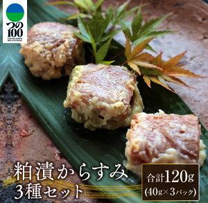 【ふるさと納税】粕漬からすみ3種セット(合計120g)都農町加工品