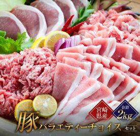 【ふるさと納税】豚バラエティーチョイスセット(合計2kg)都農町加工品