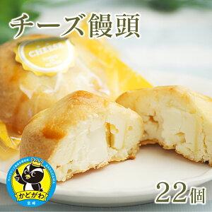 【ふるさと納税】チーズ饅頭22個 お菓子 おやつ デザート お祝い 贈り物 個包装 宮崎県門川町 送料無料