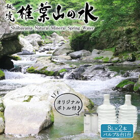 【ふるさと納税】秘境 椎葉山の水 【母ちゃ〜ん水】 2本【合計16L】と オリジナル マイボトルセット