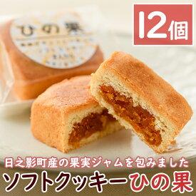 【ふるさと納税】ソフトクッキーひの果(12個入)果実ジャムをクッキー生地で包みました!【A-148】【旬果工房てらす】