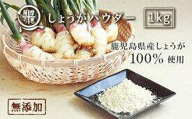 【ふるさと納税】 野菜100%パウダー しょうが(鹿児島産) 1kg【株式会社オキス】