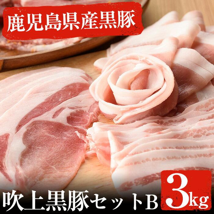 【ふるさと納税】吹上黒豚セットB 3kg 【ひまわり館管理組合】