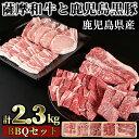 【ふるさと納税】数量限定!<薩摩和牛と鹿児島黒豚・合計2.3kg>BBQセット(ロースス...
