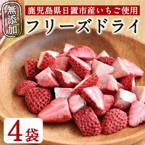 【ふるさと納税】鹿児島県産 無添加いちごのフリーズドライセット(9g×4袋)大切に育てた苺をフリーズドライフルーツに♪【ままりあ農園】