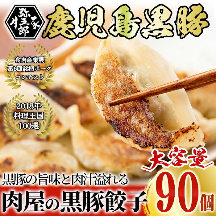 【ふるさと納税】鹿児島黒豚餃子 18個×5パック 計90個【大成畜産】