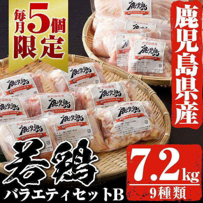 【ふるさと納税】【数量限定】鹿児島県産の鶏肉9種類 合計7.2kg!若鶏バラエティセットB【全農チキンフーズ】【鹿児島くみあいチキンフーズ】