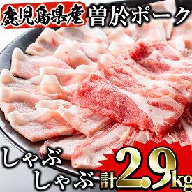 【ふるさと納税】鹿児島県曽於市産の豚肉!曽於ポークしゃぶセット2.9kg!豚ロースしゃぶ・豚バラしゃぶ・切り落し肉等豚肉詰め合わせ【Rana】