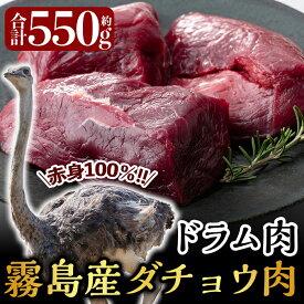 【ふるさと納税】国産!ダチョウ肉(ドラム肉約550g)低脂肪・高タンパク・高鉄分のヘルシーなオーストリッチミートのドラム肉をお届け【ビッグバード・カピリナ】