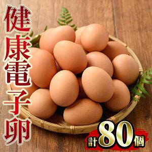 【ふるさと納税】鹿児島県産!健康電子卵(計80個・10個入り×8P、M~Lサイズ)電子イオンを与えた水と飼料で体質改善された親鶏から生まれた新鮮なタマゴ!小分けパック入り【峯元養鶏】