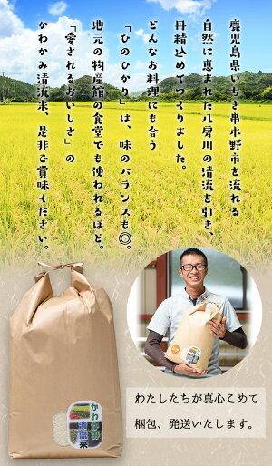 【ふるさと納税】令和元年度産!今年も美味しい新米!かわかみ清流米(ひのひかり・10kg×1袋)【石橋組】