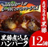 【ふるさと納税】鹿児島県産黒豚煮込みハンバーグ・チーズインハンバーグセット