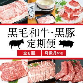 □【スターゼン厳選定期便】黒毛和牛・黒豚定期便
