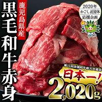 鹿児島県 志布志市 鹿児島県産黒毛和牛モモスライス 計2,020g