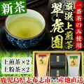 【ふるさと納税】一番茶使用!厳選上煎茶翠虎園(リーフ茶、上粉茶)【産地直送】A-273