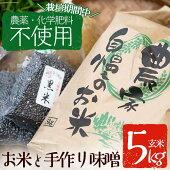 【ふるさと納税】C07雲月農園のお米(玄米)と手作り味噌【雲月農園】