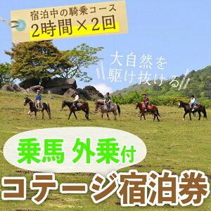 【ふるさと納税】乗馬体験もできる!1泊2日宿泊券(1名様分)体験チケット【霧島アート牧場】