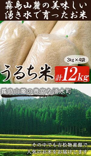【ふるさと納税】吉松物産館で人気のお米12kg【吉松物産館】
