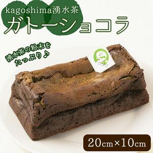 【ふるさと納税】kagoshima湧水茶ガトーショコラ(20cm×10cm)湧水町のお茶とチョコをたっぷり使用!【野本園】