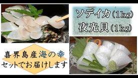 【ふるさと納税】真空冷凍 夜光貝の刺身1kg・冷凍ソデイカ1kgセット