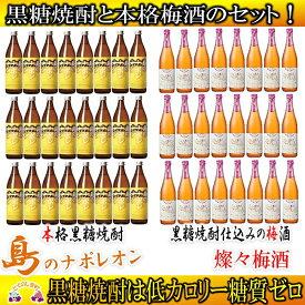 【ふるさと納税】奄美黒糖焼酎 島のナポレオンと燦々梅酒セット(48本)