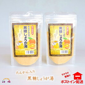 【ふるさと納税】〜ポカポカだよ〜たんかん入り黒糖しょうが湯(2袋)【ポストイン配送】