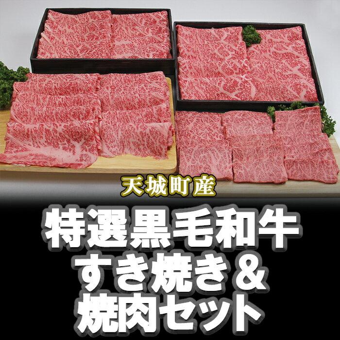 【ふるさと納税】特選鹿児島黒毛和牛すき焼き&焼肉セット
