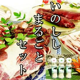 【鹿児島徳之島】イノシシまるごとセット(限定5セット)&パパイヤスパイス3種セット