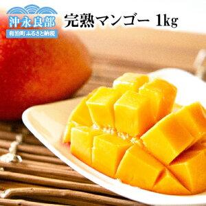 【ふるさと納税】ティダ(太陽)の恵み「沖永良部・完熟マンゴー」1kg