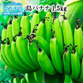 【ふるさと納税】【幻のバナナ】島バナナ 1.5Kg/沖永良部島産 〜2021年発送〜