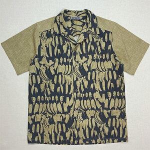 【ふるさと納税】石垣島オリジナルシャツ(バサナイ[島バナナ]柄) SSサイズ メンズ 男性用 シャツ 服 プレゼント 贈答用 ギフト 送料無料 IC-1