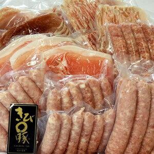 【ふるさと納税】キビまる豚【ロース&バラ&ウデ】焼肉・ソーセージ2kgセット