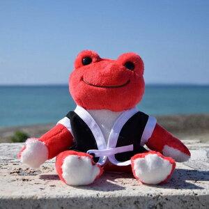 【ふるさと納税】沖縄限定!!かえるのピクルス ぬいぐるみエイサー衣装ビーンドールセット