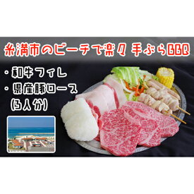 【ふるさと納税】糸満市のビーチで楽々手ぶらBBQ 和牛フィレ・県産豚ロース(3人分)
