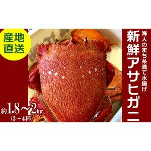 【ふるさと納税】【産地直送】沖縄県で水揚げ!新鮮アサヒガニ(3〜4杯)