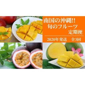 【ふるさと納税】南国の沖縄!旬のフルーツ定期便(全3回)