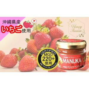 【ふるさと納税】幸せのコラボ!マヌカハニー&沖縄県産ストロベリー