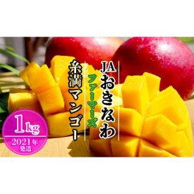 【ふるさと納税】【2021年発送】JAおきなわファーマーズ 糸満マンゴー 1kg