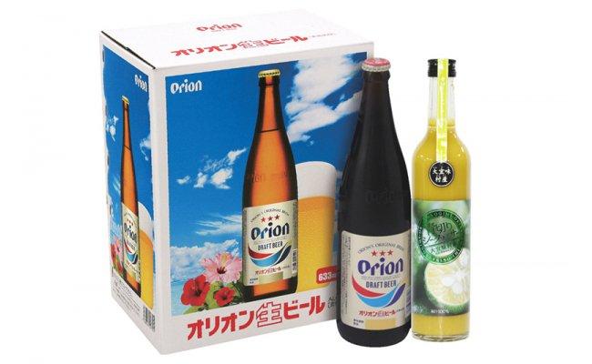 【ふるさと納税】贅熟Orionセット(オリオンビール5本、シークヮーサージュース1本)