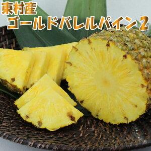 【ふるさと納税】東村産 ゴールドバレルパイン2(2〜3玉)