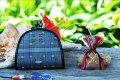 【ふるさと納税】読谷山花織月丸小銭入れ&マースストラップ