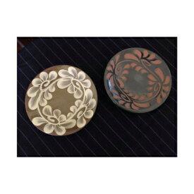 【ふるさと納税】【伝統工芸】やちむんカフェ器人 5寸皿いっちん&黒釉セット